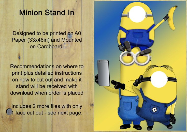 EXtra Large Minion Style Photo Prop - Minion Photo Stand In, Minion Head in the…