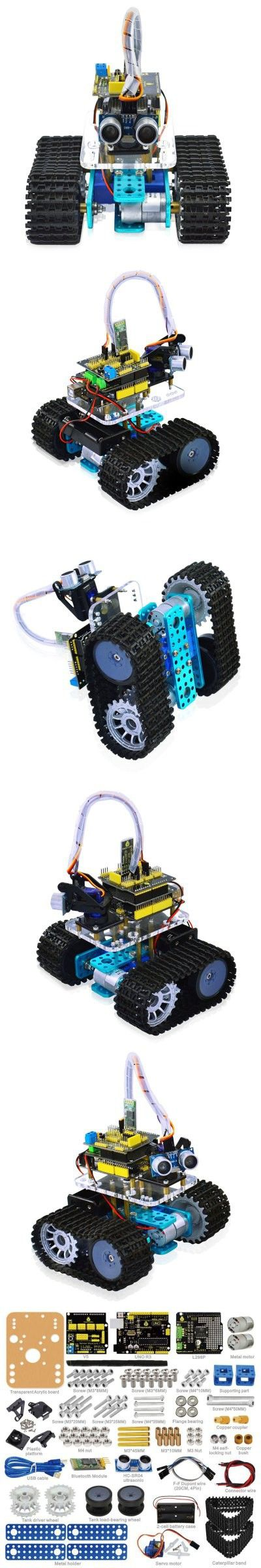 Arduino & SCM Supplies   Keyestudio TS - 50 Mini Bluetooth Tank Robot Smart Car Kit $66.16