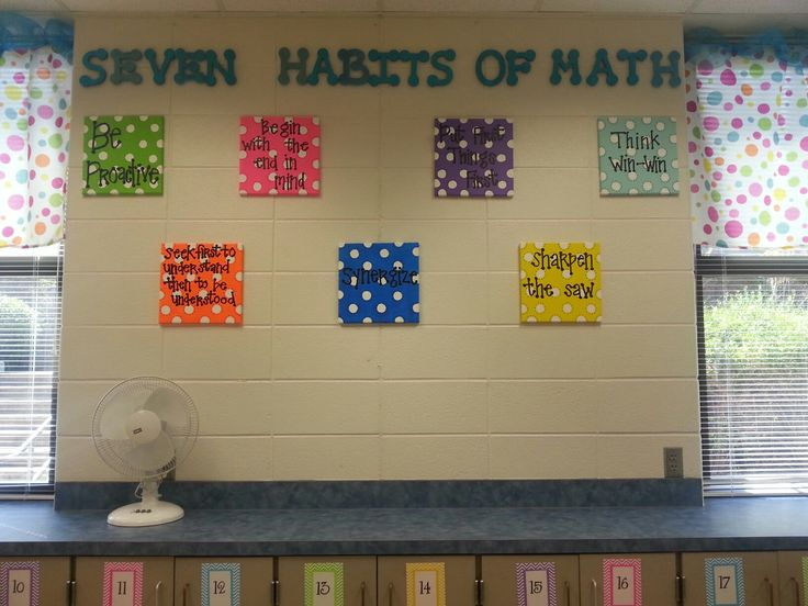 6th Grade Classroom Decoration Ideas ~ Seven habits in math classroom teaching pinterest