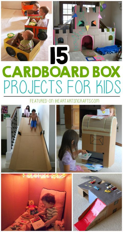 My kids LOVE creating things with old cardboard boxes! These 15 Super Fun Cardboard Box Projects For Kids are genius..how fun does that slide look! Perfect summer fun ideas.