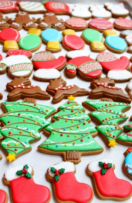 Decorated Christmas Cookies