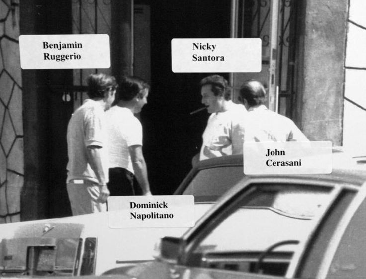 Mob trial of Joseph Massino at 225 Cadman Plaza Surveillance photos and others of mobsters Benjamin Ruggerio, Nicky Santora, Dominick Napolitano and John Cerasani.