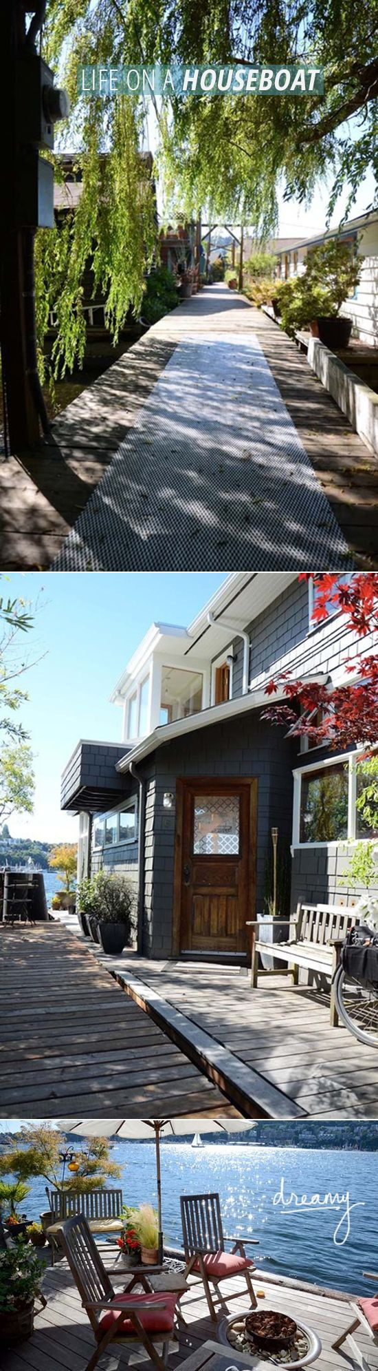 Free Houseboats To Good Home - Seattle houseboat outdoor living