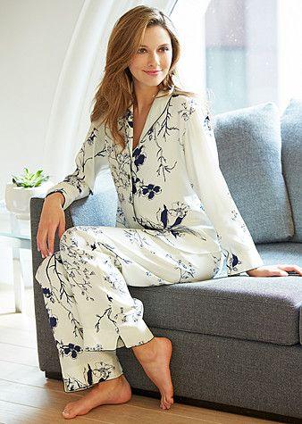 Julianna Rae! Women's Silk Pajamas petite, Natalya Silk Pajamas Petite