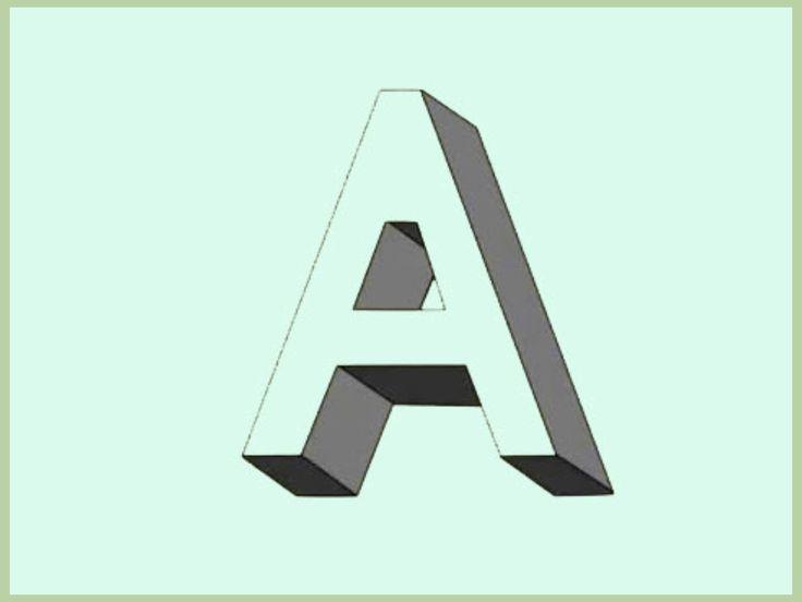 Les lettres en 3D ou qui comportent des ombres sont de très bonnes alternatives à vos lettres habituelles. Cet article va vous apprendre à les dessiner. Commencez par tracer simplement la lettre désirée. Essayez de la tracer le plus droit p...