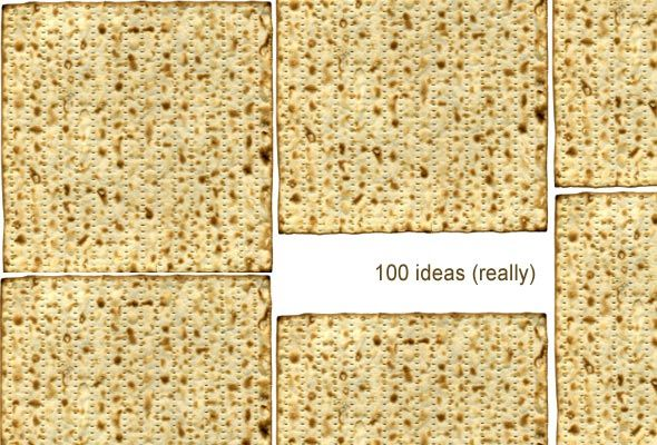 For Passover - 100 ideas for eating matzoh