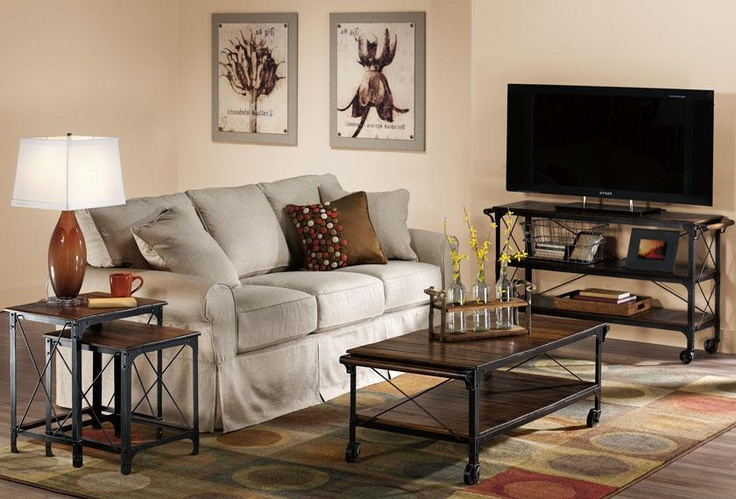 Like the industrial tables and the wall art pinned in the 4 corners to the matting on the wall