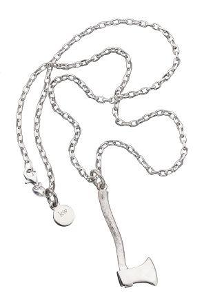 Really cute silver axe pendant