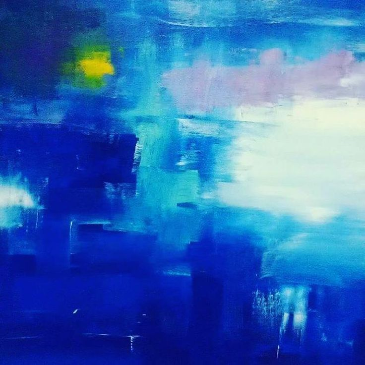 """As deep as the ocean and as far as the eye can see."" ▪▪▪ #abstractart #painting #abstractpainting #abstractartist #instaartist #instaart #australianartist #ipswichart #artfollow #canvaspainting #originalart #canvasart #colorfulart #contemporaryart #modernart #blue #ocean #reflection #sailing #cool #blueandwhite  #santorini #water #abstractexpressionism  #abstractlandscape  #lightandshadow"
