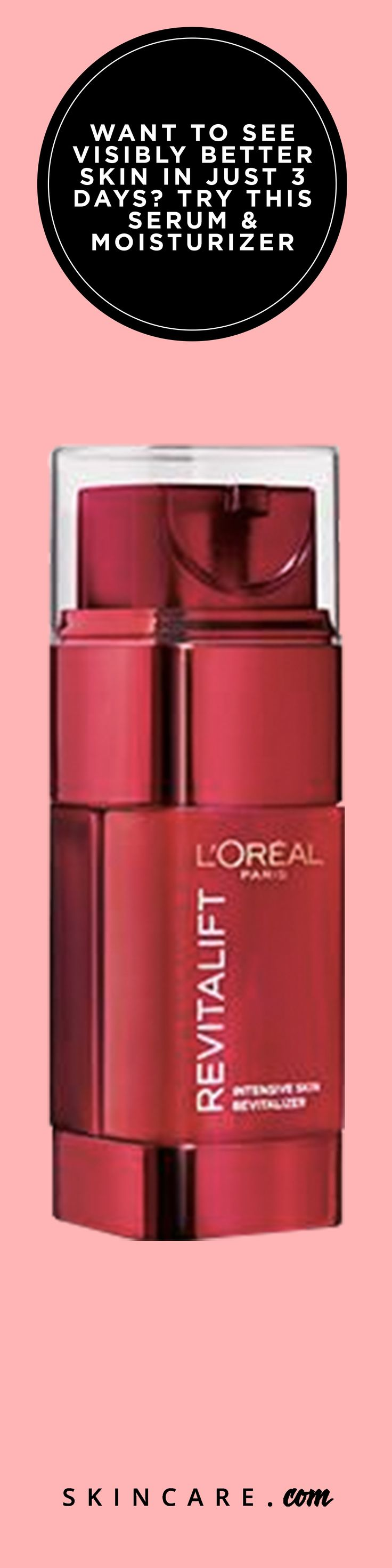 L'Oréal Paris' Revitalift Triple Power Intensive Skin Revitalizer Serum & Moisturizer can offer noticeable results in less than a week! From re-firming skin elasticity to re-surfacing skin texture, this dual-action product is perfect for those who want flawless skin without spending too much time on their routine.