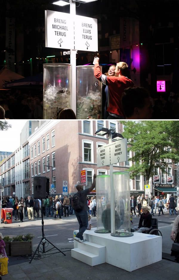 Interactive Trash Containers