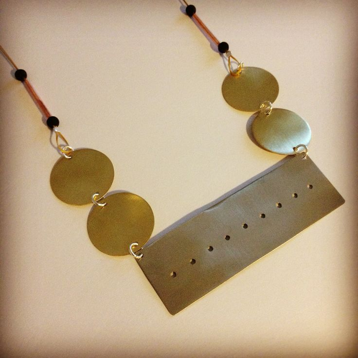 Brass,copper and Azande necklace