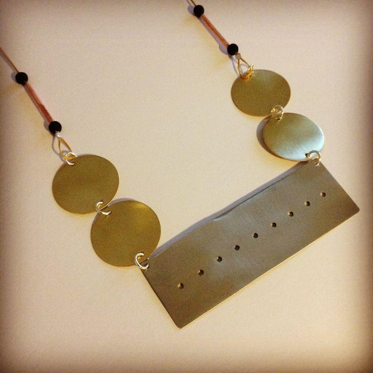 Brass,copper and Azande necklace