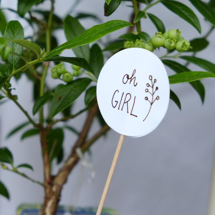 Selbstgemachte Deko für die Babyparty im Garten | #babyshower #diy