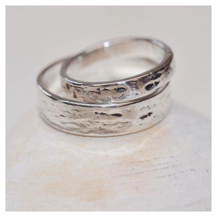 nice bark wedding rings nature wedding nature inspired wedding bands rustic wedding bands - Nature Wedding Rings