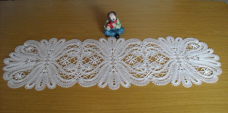 Klöppelbrief von Inna Bachina, Rußland - Deckchen 2012 gearbeitet mit Diana Häkelgarn Nr. 20
