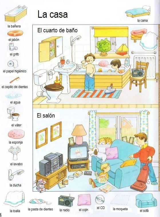 la casa vocabulario