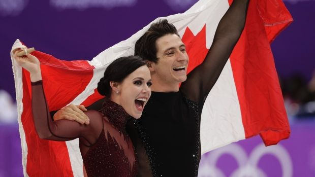 Virtue, Moir claim ice dance gold in thrilling finale Canadian ice dance stars Tessa Virtue and Scott Moir are ending their Olympic careers on top. In what was likely their final competitive performance, Virtue and Moir captured a gold medal at the Pyeongchang Games after scoring 122.40 points in Tuesday's free skate for a world-best combined score of 206.07.Tessa Virtue Scott Moir, The Canadian Press
