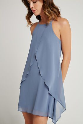 Ruffle Halter Dress | BCBGeneration