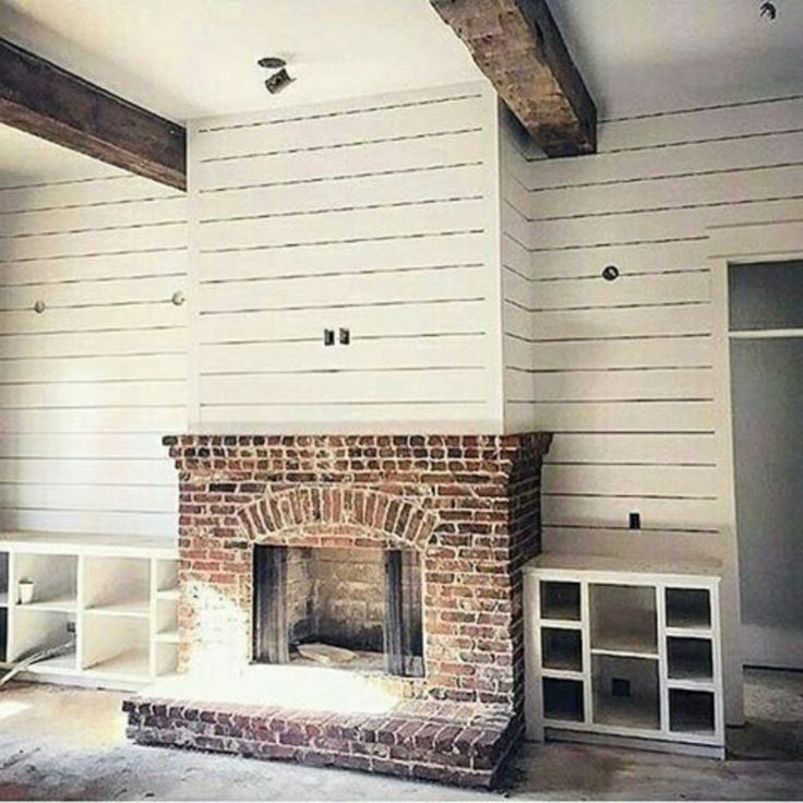 The 25+ best Fireplace makeovers ideas on Pinterest   Brick ...