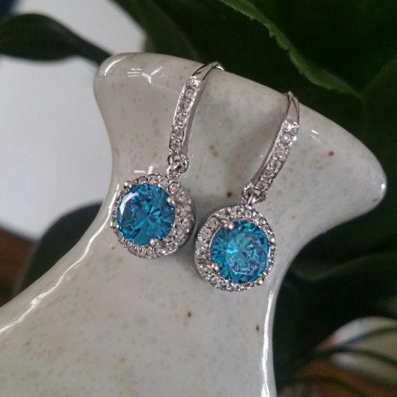 Sterling Silver Earrings Sterling Silver CZ by LenaMayJewelley