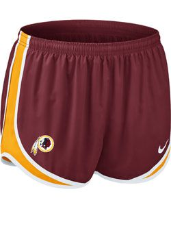 Nike Ladies Tempo Redskins Shorts