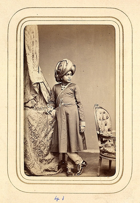 A Young Prince Of Mysore From The Album Cartes De Visite Po