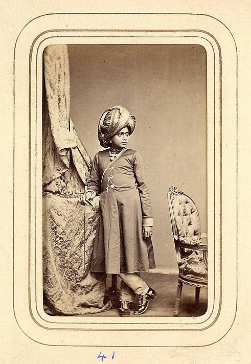 A Young Prince Of Mysore From The Album Cartes De Visite Po
