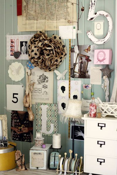 Pin board panelling, silhouettes and lucky numbers.....simple success
