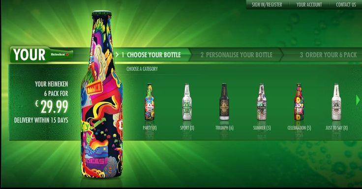 heineken personalised bottles - Google Search