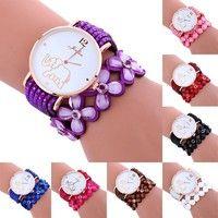 Wish | patr n de accesorios elefante campanadas de cuero pulsera de diamantes de se ora Woman S regalos reloj de pulsera