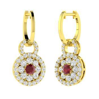 RIPA Gravity 18kt Sapphire Red Earrings jnmQle