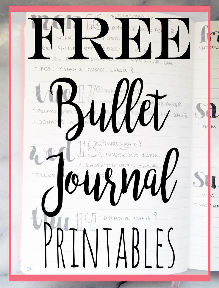 ***FREE*** Bullet Journal Printables.
