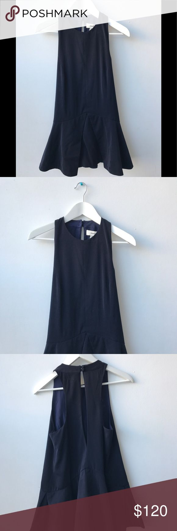Midnight Blue Cameo Dress Navy Blue party dress from C/MEO. Pleated skirt. Material: 97% Polyester, 3% Elastane C/MEO Collective Dresses Midi