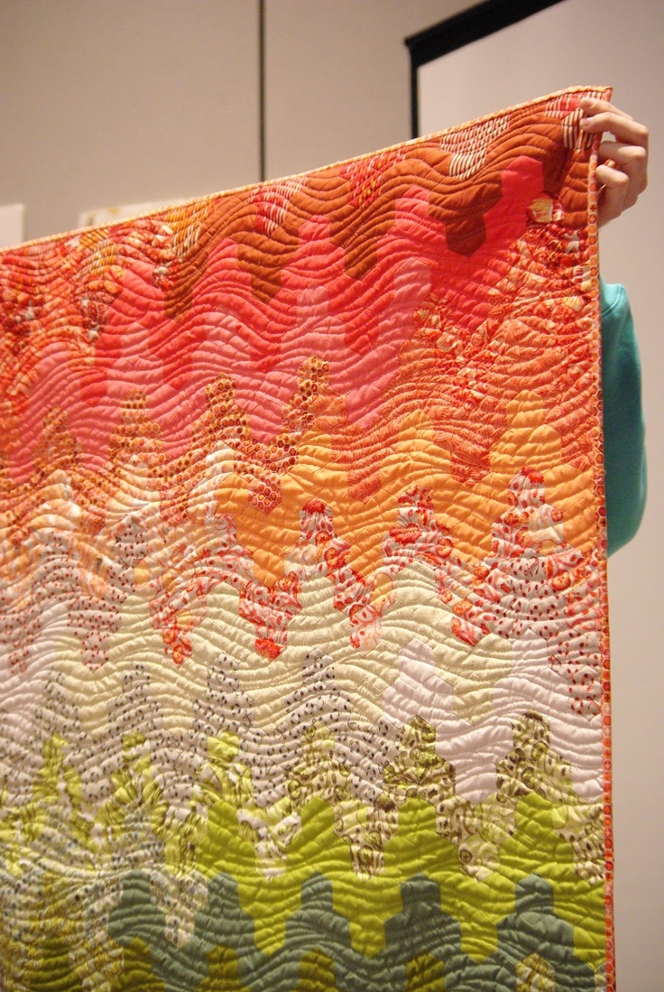Beautiful - and it looks doable for not so experienced machine quilters