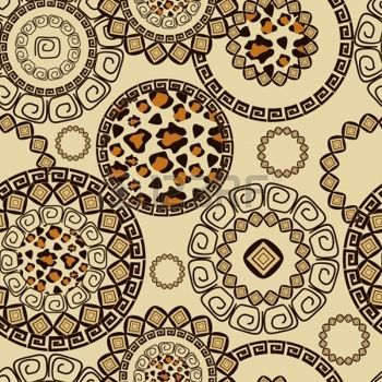 African style seamless with cheetah skin pattern photo