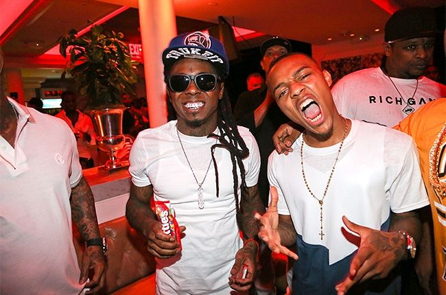 PHOTO OF THE WEEK: LIL WAYNE + BOW WOW attend the Rich Gang Album listening event in New York at Bagatelle.