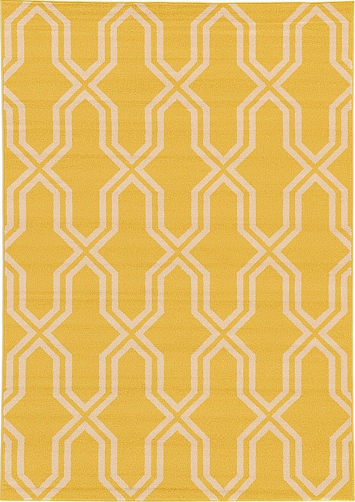 Trellis Yellow Area Rug