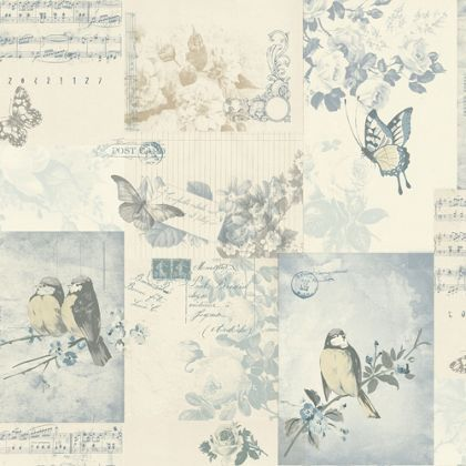 Wallpaper holden songbird wallpaper blue at homebase - Butterfly wallpaper homebase ...