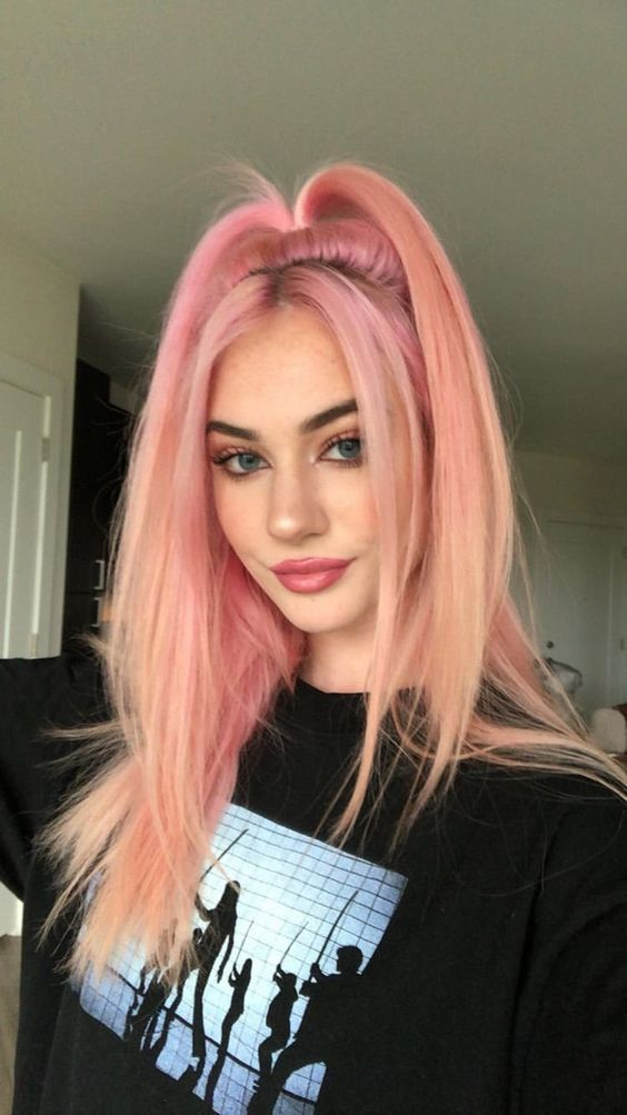 5 Ideas for Hair Colors in Pastel Pink for 2019: Have a look