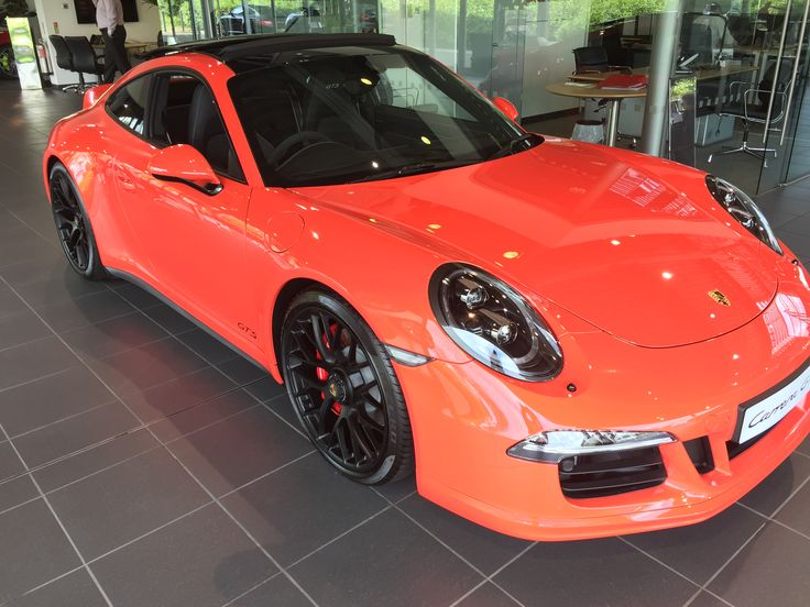 Awesome Porsche 911 991 GTS Lava Orange #porsche
