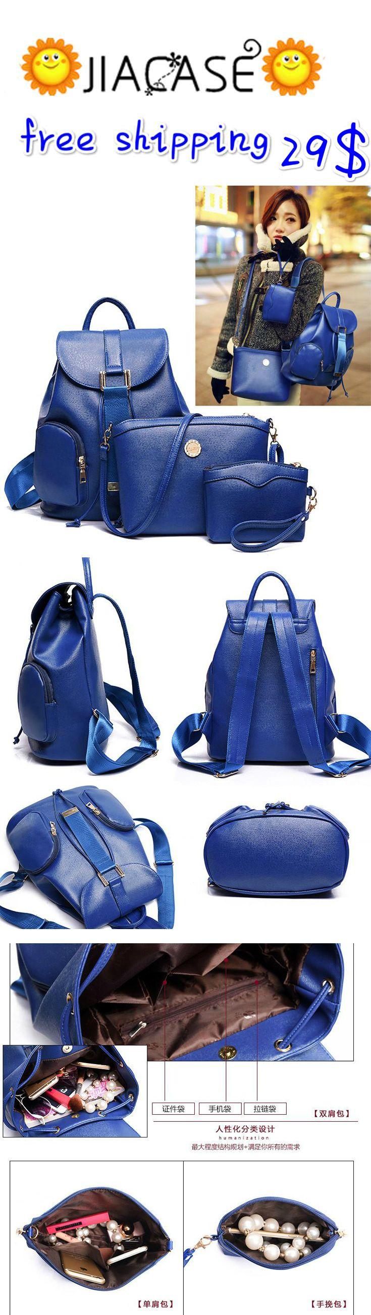 3 Pcs/Set Women #Shoulder #Bag #Handbags PU #Leather #Messenger Bag