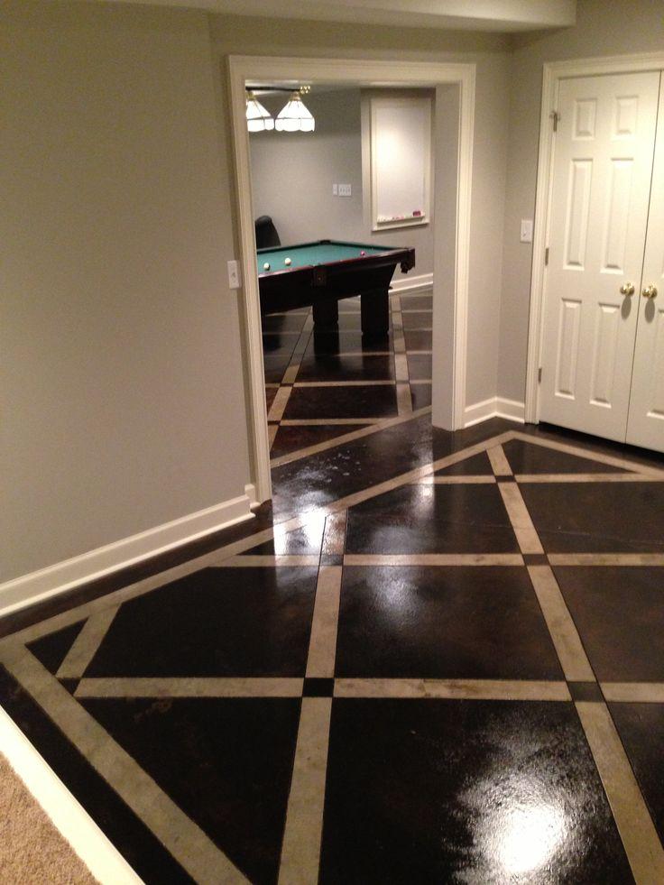 17 best images about basement floor ideas on pinterest - Basement tile floor ideas ...