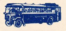 Bus Graphic-East Kent Road Car-1930s Coach Ticket-(m woodland)