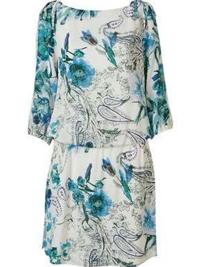 Vestido floral de seda