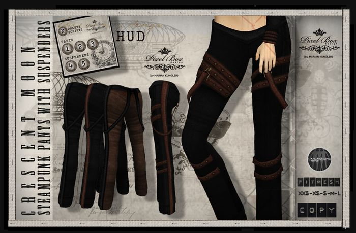 IXEL BOX - Steampunk The Relic pants suspenders Classic
