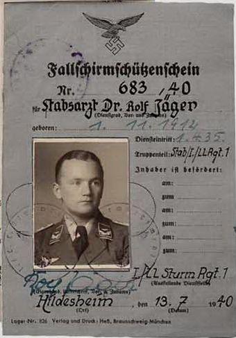 """■ Oberstabsarzt Dr. med. Rolf Jäger - Fallschirmjäger Sturmabteilung """"Koch"""""""