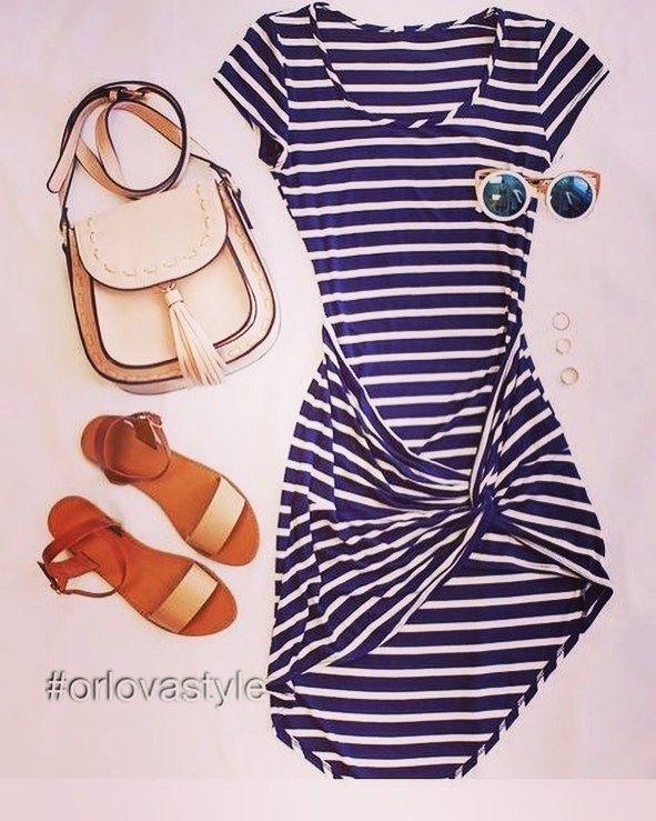 Морской стиль  Формы: Простые лаконичные свободные. Длина  различная: платья…