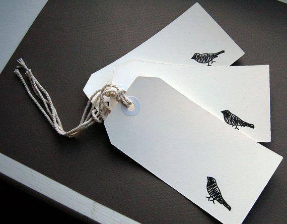 Mus Hang label kleren label zelfgemaakte originele hand getekende kleding label postkantoor label