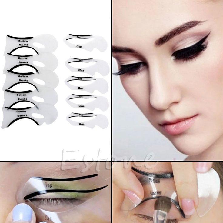 Cat Eye Eyeliner Stencil Models Template 10pcs